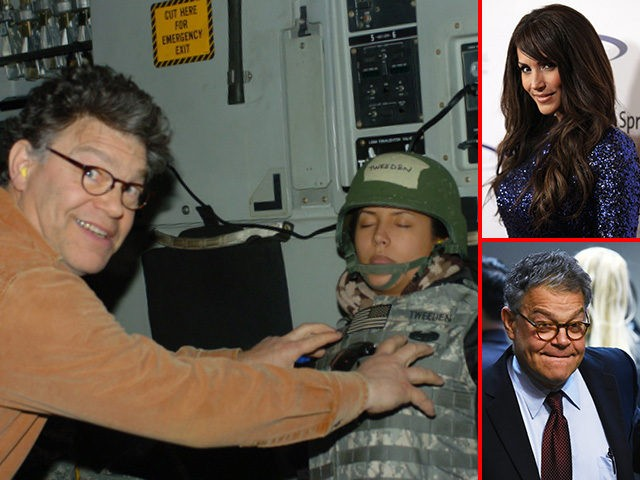 Leeann Tweeden and Sen. Al Franken (D-MN).