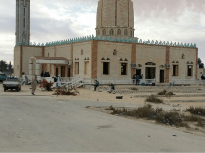 People gather at Al-Rawda Mosque in Bir al-Abd northern Sinai, Egypt a day after attackers killed hundreds of worshippers, on Saturday, Nov. 25, 2017. Friday's assault was Egypt's deadliest attack by Islamic extremists in the country's modern history, a grim milestone in a long-running fight against an insurgency led by …