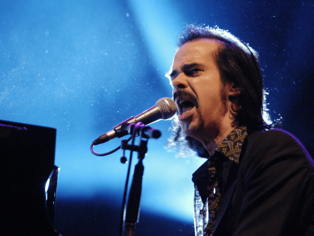 "Australian singer Nick Cave offers original grisly tunes as well as old timey classics on his 1996 album ""Murder Ballads."" (AP Photo/CTK, Rene Volfik)"