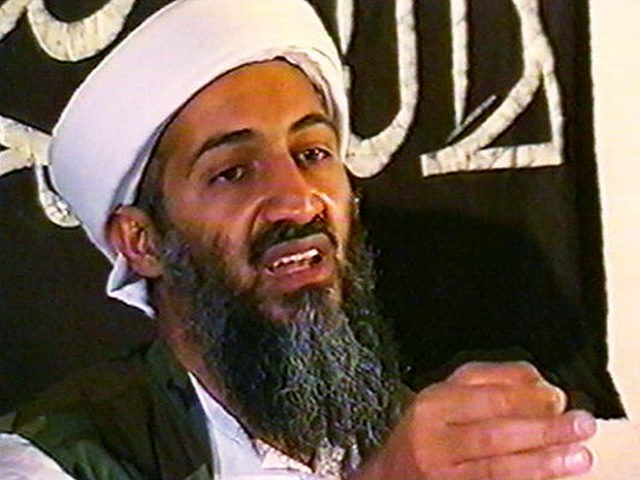 AFGHANISTAN - MAY 26: (JAPAN OUT)(VIDEO CAPTURE) This image taken from a collection of videotapes obtained by CNN shows Osama Bin Laden, the leader of the terrorist group al Qaeda, at a press conference on May 26, 1998 in Afghanistan. The tape showing this image was included in a large …