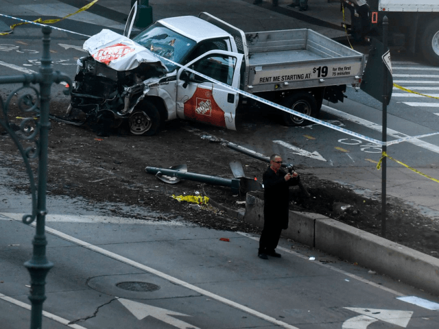"President Donald Trump says Sayfullo Saipov, who plowed a rented truck into cyclists and pedestrians on a New York City bike path, killing eight, entered the country on the ""green card"" visa lottery system"