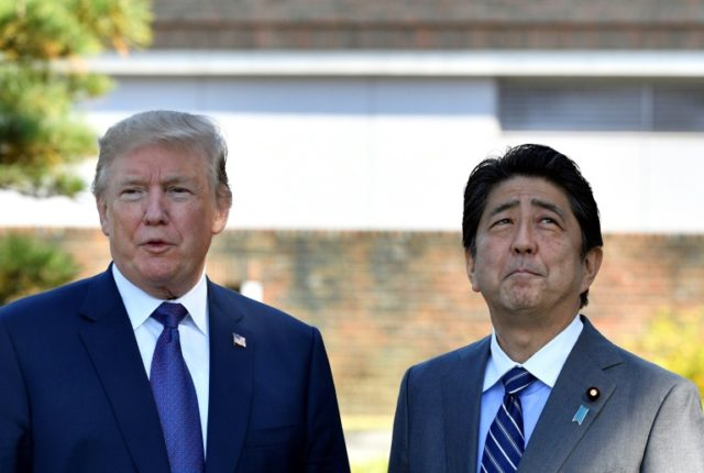 Despite the touch talk on trade, Donald Trump has formed a strong bond with Japanese leader Shinzo Abe