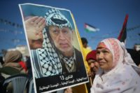 Palestinians in Gaza City mark the 13th anniversary of the death of Yasser Arafat on November 9, 2017