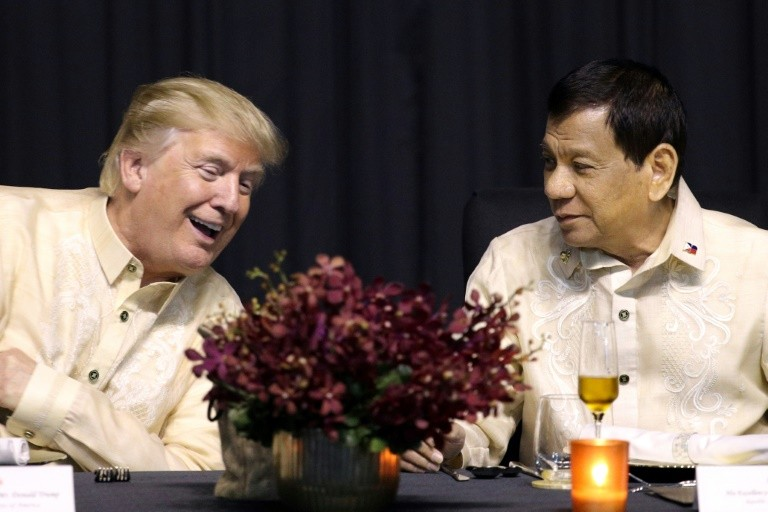 "Duterte, who has a reputation for unpredictability, has recently said the nations are ""best of friends"" again after receiving praise from Trump about the drug war"
