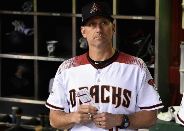 Manager Torey Lovullo of the Arizona Diamondbacks, pictured here, won the 2017 National League Manager of the Year award