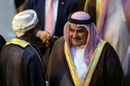 Bahrain Foreign Minister Shaikh Khalid Bin Ahmed Al-Khalifa an Arab League meeting called by Riyadh