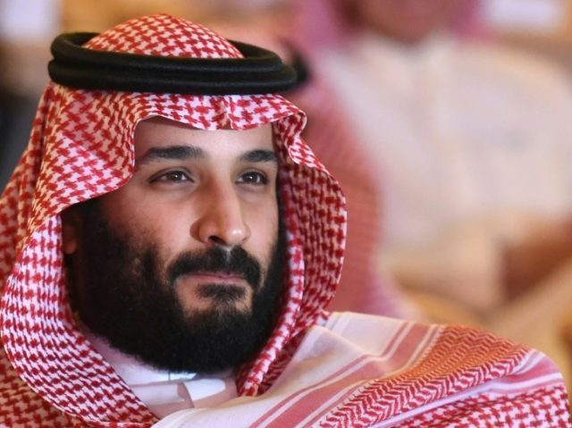 "Saudi Arabia's Crown Prince Mohammed bin Salman, shown here on October 24, 2017, has denounced Iran's supreme leader Ayatollah Ali Khamenei as the ""new Hitler of the Middle East"""