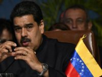 "Venezuelan President Nicolas Maduro, shown in this November 24, 2017 file photo, maintains that the United States is carrying out ""financial persecution"" against Caracas"