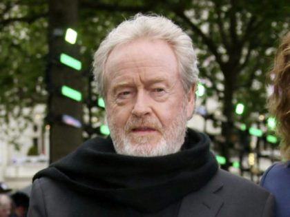 """FILE - In this May 4, 2017 file photo, director Ridley Scott appears at the premiere of the film """"Alien: Covenant"""" in London. Scott decided to replace Kevin Spacey in the role of oil tycoon J. Paul Getty in his upcoming, already completed film """"All the Money in the World."""" …"""