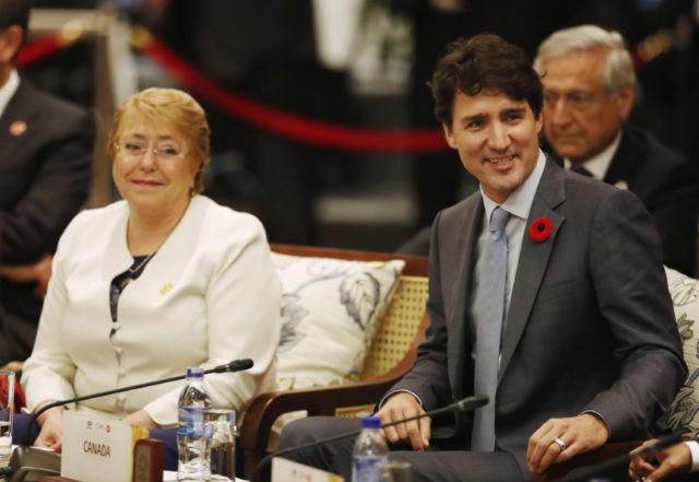 Justin Trudeau, Michelle Bachelet