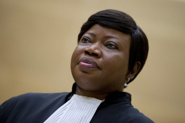 FILE - In this Tuesday, Sept. 29, 2015 file photo, prosecutor Fatou Bensouda in the International Criminal Court in The Hague, Netherlands. The International Criminal Court prosecutor Bensouda has asked judges to authorize an investigation into various allegations of war crimes in Afghanistan, asserted against the U.S. military, CIA, the …