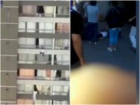 WATCH: Man Breaks Woman's Fall from Ninth-Floor Balcony in Chile