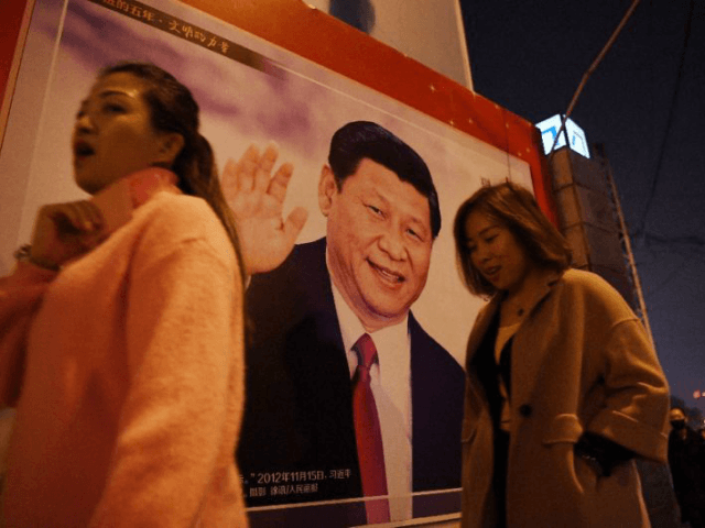 A roadside poster of Xi Jinping: now he has a new honorific