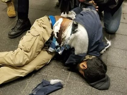The suspect in police custody following an explosion at Port Authority Bus Terminal.