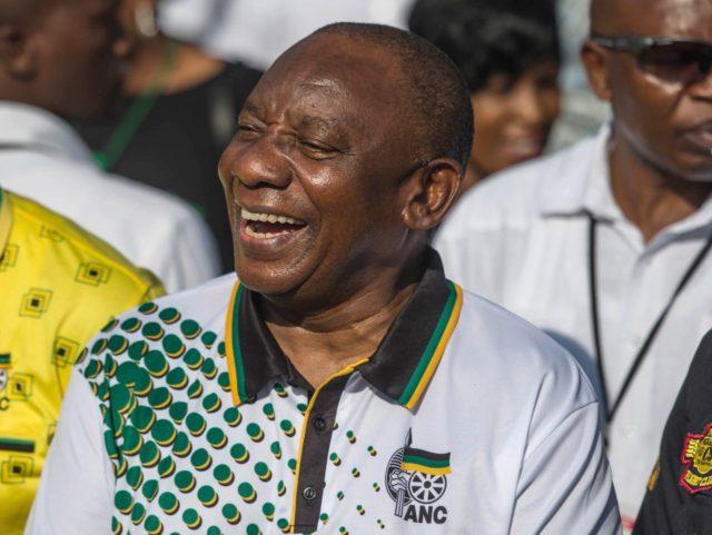 ANC Cyril Ramaphosa (Mujahid Safodien / AFP / Getty)