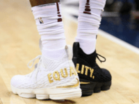 LeBron Wears 1 Black Shoe, 1 White Shoe Saying 'Equality'