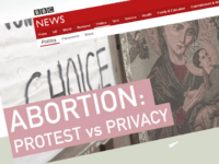BBC: Should Pro-Life Campaigners Even Be Allowed Right of Protest?