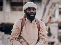 alleged ISIS fighter with an American accent, one leg, and identified as Abu Salih al-Amriki