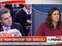 Watch: Acosta, Huckabee Sanders Battle Over Inaccurate WH News Reports
