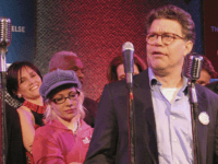 NEW YORK, NY - MARCH 30: (U.S. TABS AND HOLLYWOOD REPORTER OUT) Comedian Al Franken performs at the Air America Radio Launch Party on March 30, 2004 at the Maritime Hotel, in New York City. (Photo by Thos Robinson/Getty Images)