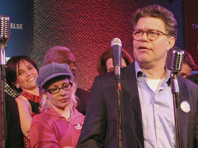 NEW YORK NY- MARCH 30  Comedian Al Franken performs at the Air America Radio Launch Party