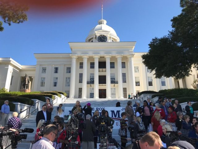 Alabama State Capitol shortly before Roy Moore campaign press conference, 11/17/17
