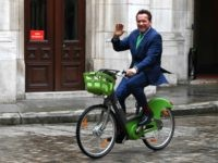 Watch: Arnold Schwarzenegger Rides Bike, Rips Trump over Global Warming in Paris