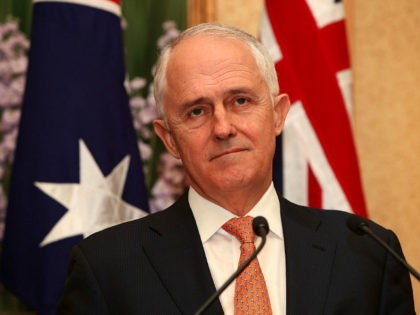 SYDNEY, AUSTRALIA - NOVEMBER 05: Prime Minister Malcolm Turnbull attends a press conference at Kirribilli House on November 5, 2017 in Sydney, Australia. The new New Zealand Prime Minister is on a one-day visit to Australia. (Photo by Lisa Maree Williams/Getty Images)