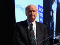 Chris Matthews speaks onstage as Robert F. Kennedy Human Rights hosts The 2015 Ripple Of Hope Awards honoring Congressman John Lewis, Apple CEO Tim Cook, Evercore Co-founder Roger Altman, and UNESCO Ambassador Marianna Vardinoyannis at New York Hilton on December 8, 2015 in New York City. (Photo by Astrid Stawiarz/Getty …