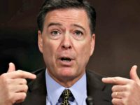 Comey pointing at himself