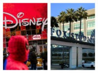Collage of Disney store in Times Square and Fox Studios