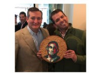Donald Trump Jr. posted an Instagram photo of himself with Sen. Ted Cruz (R-TX) holding a cookie with a distorted image of former President Barack Obama's face on it, and many writers are outraged over it.