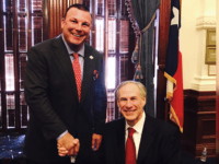 Governor Greg Abbott and Dallas Police Association PAC 1st Vice President Frederick Frazier