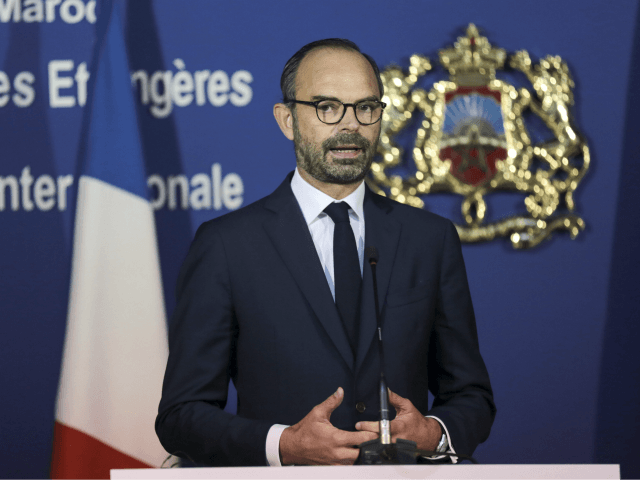 France's Prime Minister Edouard Philippe speaks during a press conference with his Moroccan counterpart Saad-Eddine El Othmani, in Rabat, Morocco, Thursday, Nov. 16, 2017. Philippe is in Morocco to try to reinvigorate trade with the North African kingdom, as the former French protectorate increasingly positions itself as an economic pillar …