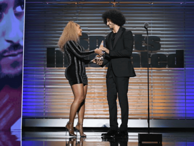 Beyoncé Presents Colin Kaepernick With Sports Illustrated's Muhammad Ali Legacy Award