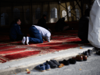 VIENNA, AUSTRIA - OCTOBER 13: A muslim prays during the Friday prayers at the IZW Viennese Islamic Center mosque two days before Austrian parliamentary elections on October 13, 2017 in Vienna, Austria. The right-wing Austria Freedom Party (FPOe), which has campaigned with an 'Austria first' party program that emphasizes Austrian …