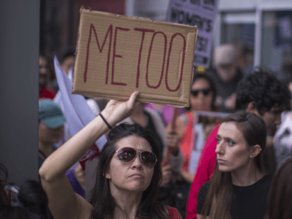 LOS ANGELES, CA - NOVEMBER 12: Demonstrators participate in the #MeToo Survivors' March in response to several high-profile sexual harassment scandals on November 12, 2017 in Los Angeles, California. The protest was organized by Tarana Burke, who created the viral hashtag #MeToo after reports of alleged sexual abuse and sexual …
