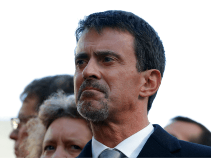 Former French Prime Minister Manuel Valls attends a ceremony at Paris 11th district town hall on November 13, 2017, during ceremonies held for the victims of the Paris attacks which targeted the Bataclan concert hall as well as a series of bars and killed 130 people. / AFP PHOTO / …