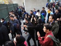 Iranian students protest at the University of Tehran during a demonstration driven by anger over economic problems, in the capital Tehran on December 30, 2017. Students protested in a third day of demonstrations, videos on social media showed, but were outnumbered by counter-demonstrators.