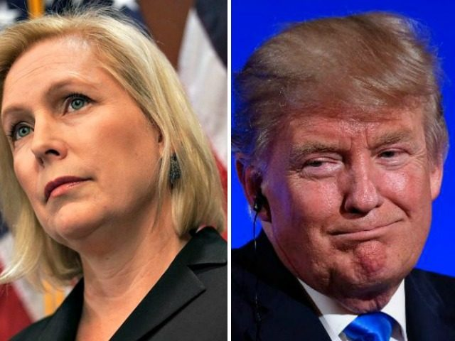 Gillibrand and Trump Split Image