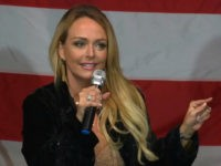 Dr. Gina Loudon at an Alabama rally for Roy Moore