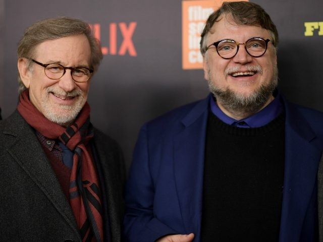 Steven Spielberg and Guillermo del Toro attend the 'Five Came Back' world premiere at Alice Tully Hall at Lincoln Center on March 27, 2017 in New York City. (Photo by Mike Coppola/Getty Images)