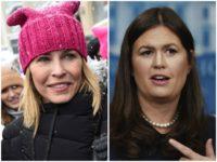 Chelsea Handler Sarah Huckabee Sanders Getty/AP