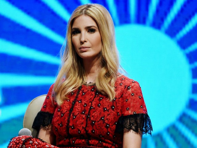 Advisor to the US President Ivanka Trump looks on during a panel discussion at the Global Entrepreneurship Summit at the Hyderabad convention centre (HICC) in Hyderabad on November 29, 2017. Ivanka urged India on November 28 to close its yawning gender gap in the job market, telling a business summit in her biggest foreign mission yet that this would bring huge economic benefits. US President Donald Trump's eldest daughter urged India to seize the untapped potential in women in a speech before Prime Minister Narendra Modi and business leaders in Hyderabad. / AFP PHOTO / MONEY SHARMA (Photo credit should read MONEY SHARMA/AFP/Getty Images)
