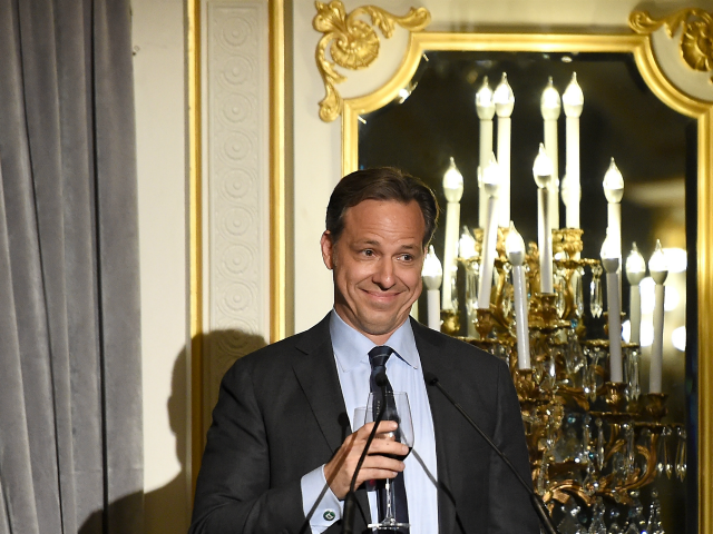 NEW YORK, NY - JUNE 20: CNN Anchor Jake Tapper speaks at the Museum of the Moving Image honoring Netflix Chief Content Officer Ted Sarandos and Seth Meyers at St. Regis Hotel on June 20, 2016 in New York City. (Photo by Nicholas Hunt/Getty Images)