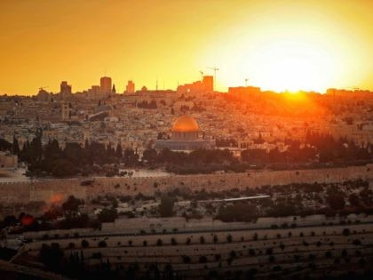 Jerusalem sunset (Thomas Coex / AFP / Getty)