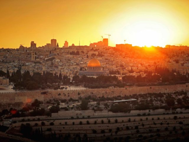 Jerusalem sunset (Thomas Coex / AFP / Getty)