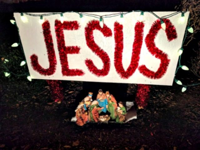 Family ordered to take down 'Jesus' display after neighbor complains
