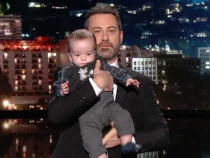 Jimmy Kimmel Brings Infant Son Onstage to Call for Health Care Reform