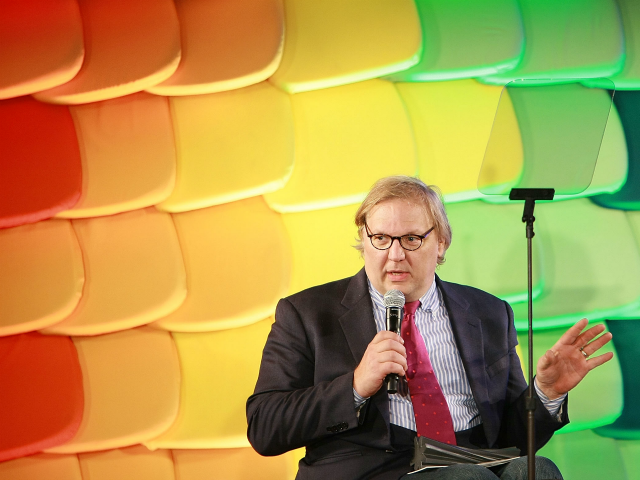 Presenter John Hockenberry attends the 2008 National Design Awards gala at Cooper-Hewitt, National Design Museum on October 23, 2008 in New York City. (Photo by Neilson Barnard/Getty Images)